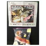 Vintage Victorian Cats Needlepoint Embroidery Kit