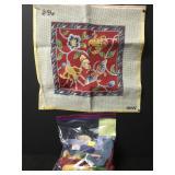 Vintage Butterfly W/Flowers Needlepoint Kit