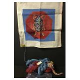 Vintage Spiked Beetle Needlepoint Embroidery Kit
