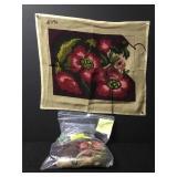 Vintage Floral Needlepoint Embroidery Kit