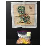 Vintage Chinese Dragon Needlepoint Embroidery Kit