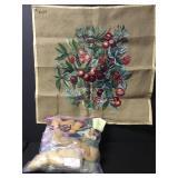 Vintage Christmas Berry Needlepoint Embroidery Kit