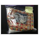 Vintage Grey Elephant Needlepoint Embroidery Kit