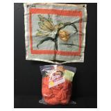 Vintage Iris Flower Needlepoint Embroidery Kit