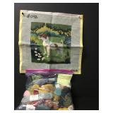 Vintage Dog Needlepoint Embroidery Kit