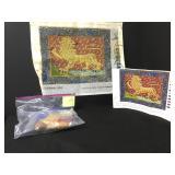 Vtg Rare Candace Bahouth Red Lion Needlepoint Kit