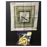 Vintage Dragon Fly Needlepoint Embroidery Kit