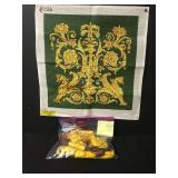 Vintage Double Griffins Needlepoint Embroidery Kit