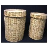 2 Large Woven Hamper/Storage Baskets
