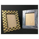 2 Hand Painted Picture Frames