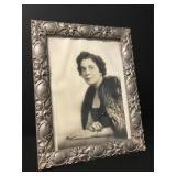 Antique Carved Wood Framed Photograph