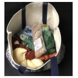 Canvas Bag Full Of French DMC Virgin Wool Skeins