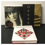 3 Hardcover Opera Coffee Table Books