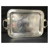 """Large Vintage Silver Plated Meat Tray 20""""x14"""""""