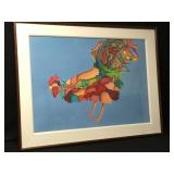 Extra Large Santa Fe Artist Judy Ryhmes Rooster
