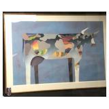 Vtg Extra Large Santa Fe Artist Judy Ryhmes Bull