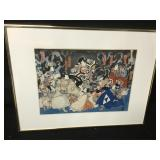 Antique Original Japanese Ukiyo-E Print Kabuki