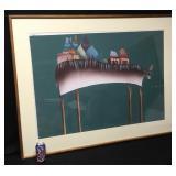 Vtg Extra Large Santa Fe Artist Judy Ryhmes Bull 1