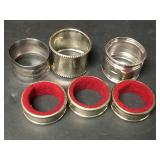 Assorted Silver Plated Napkin Rings 1 Marked .925