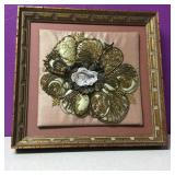 Multimedia Floral Embroidery Wall Hanging