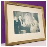 Vintage Victorian Framed Family Lithograph