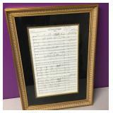Framed Met Opera American Tragedy Concert Sheet