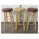 "3 - 30"" Tall Bar Stools"