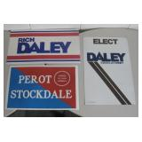 """Lot of 12-14"""" X 20-22"""" Campaign Posters"""