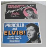 "Lot of 2 17"" X 11"" Posters, Elvis/Michael Jackson"