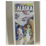 "Repro The Alaska Line Travel Poster 12"" x 26"""