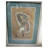 Matted & Framed Eagle Dancer Sand Painting