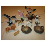 Lot of 13 Mini Porcelain Animal Figures