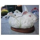 "8"" Porcelain Rabbit Tureen"