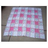 "45"" X 45"" Baby Pink Quilt"