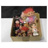 Lot Of Vintage Troll Dolls