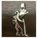 Hallmarked Sterling Silver Kokopelli Pendant