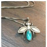 Vintage Sterling HouseFly Pendant &  Chain