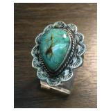 S.S. Navajo Spiderweb Utah Turquoise Ring