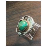 Vintage Navajo Sterling & Cerrillos Turq. Ring