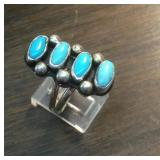 Sterling Silver & Turquoise Southwestrn Ring