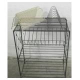 Vintage Metal Vinyl Record Storage Racks