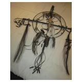 "42"" Leather/Coyote Skull/Rifle Shell Dreamcatcher"