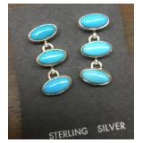 Sterling Silver & Turquoise Navajo  Earrings