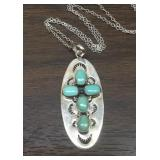 Navajo Sterling Silver & Turquoise Necklace