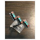 Vintage Zuni Petite  Turq. & Coral Ring