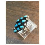 Vintage Zuni  Sterling Silver  & Turquoise Ring
