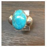 Sterling Southwestern Utah Turquoise Ring