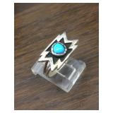 Sterling Silver & Turquoise Native Ring