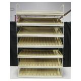 Retail Counter Display Shelf w/ Plastic Trays