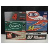 6 NOS NASCAR 1:24 Scale Die-Cast Race Cars